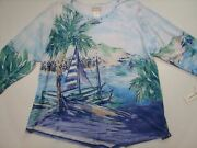 Alfred Dunner Womenand039s Plus Size 3x Costa Rica Seaside Knit Top Shirt Sweater