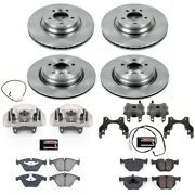 Kcoe2883 Powerstop Brake Disc And Caliper Kits 4-wheel Set Front And Rear For Bmw