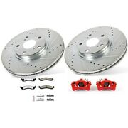 Kc5089-36 Powerstop Brake Disc And Caliper Kits 2-wheel Set Front For F250 Truck