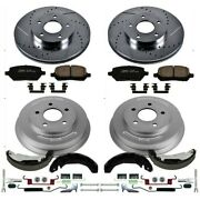 K15038dk Powerstop 4-wheel Set Brake Disc And Drum Kits Front And Rear New