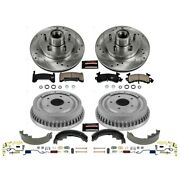 K15042dk Powerstop 4-wheel Set Brake Disc And Drum Kits Front And Rear New For S15