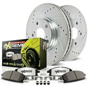 K15042dk-26 Powerstop 4-wheel Set Brake Disc And Drum Kits Front And Rear New