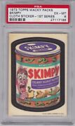 1973 Topps Wacky Packages Cloth Skimpy Psa 6 Ex/mt Series 1 Packs - Centered