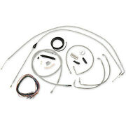 La Choppers Complete Stainless Braided Handlebar Cable/brake Line Kit Harley Flh