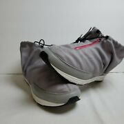 Gourmet Nfn Dignan Size 12 Women Pink Shoes With Grey Wrap Tie And Zip