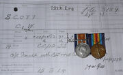 Wwi Bwm And Vm Pair To Old Contemptible - 12th Lancers