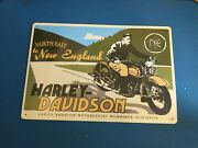 Northeast To New England Harley Davidson Motorcycles Tin Sign 2003