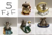 Charming Tails Mice Figurine Lot Of 5 Fitz And Floyd Mouse