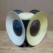 Dressel 4 Way Switch / Signal Lamp, Railroad Light W/ Blue And Amber Lenses