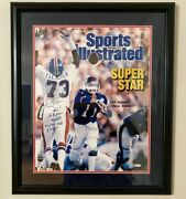 Rare Sports Illustrated Ny Giants Phil Simms Autographed 16x20 Matted And Framed