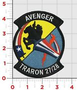 4.5 Navy Avengers Traron 27/28 Flight Training Hook And Loop Embroidered Patch