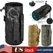 Sports Water Bottles Pouch Bag Tactical Drawstring Molle Bottle Holder Pouches