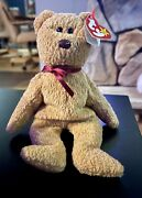 Rare Retired Ty Curly Beanie Baby Style 4052 Pvc Pellets Kr Many Errors Brown