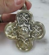 Vintage Reed And Barton 1986 Sterling Christmas Cross Ornament 15.6g 3-b257