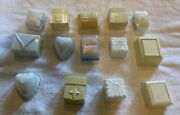 Vintage Lot Of 14 Celluloid Made In Usa Jewelry Ring Box Collection Of 14