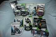 6 Xbox 360 War Games - Call Of Duty Ghosts And Mw3, Battlefield 3, Ghost Recon, ++