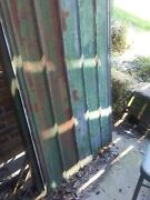 Reclaimed Corrugated Steel Tin Panels 33 X 96 Green/rust/nail Holes Roofing