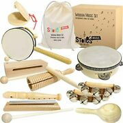 Stoieand039s International Wooden Music Set For Toddlers And Kids- Eco Friendly Music
