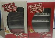Coca Cola Miniature Collectibles-miniature Fridge With Food And Drinks