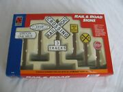 Vintage Life Like Lgb G Scale Rail And Road Signs 1973 Nos