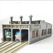 Ho 187 Railroad Sand Table Building Old-style Ring Fan-shaped Garage Model