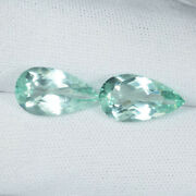 9.09cts Prefect Crystal Clean Natural Mint Green Apatite Pear Pair....