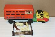Very Nice 1940's Or 50's Wyandotte Shady Glen Ranch Stock Delivery Truck