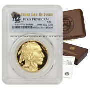 2021-w 50 Gold Buffalo Pcgs Pr70dcam Proof First Day Of Issue Mint Box And Coa