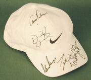 Tiger Woods - Hat Signed With Co-signers