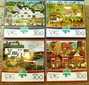 Sale  4 300 Large Piece Puzzles-buffalo--fun For The Entire Family--ak 45