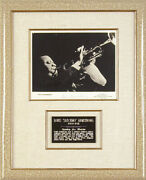 Louis Satchmo Armstrong - Photograph Signed