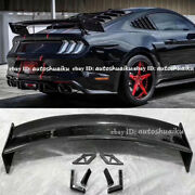 For 15-21 Ford Mustang Gt500 Gtr Style Racing Track Carbon Fiber Rear Trunk Wing