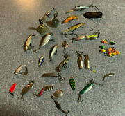 Huge Lot Vtg Fishing Lures Hooks Tackle Trout Fishing Assorted Spoons Bait