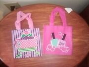 Girls Pink Mini Tote Bag Sets 6x6 Tea Time And Spa Day Set Of 2... Pink Sets