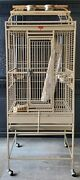 Bird Cage 64 Large Finch Parrot Conure House Pet On Stand W/ Wheels Supplies