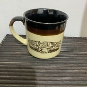 Vintage 1986 Hardees Rise And Shine Homemade Biscuits Brown Coffee Cup Mug 9 Oz.