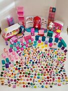 Huge Lot Of Shopkins- Playsets 2 Dolls And Tons Of Figures Count Multiple Gen