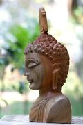 Wood Buddha Head,buddha Carving,wooden Buddha Statue,carving,sculpture,gift Item