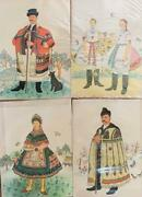 4 Musical Postcards -hungarian Colorvox 45 - Folk Songs And Costumes - New ,mint