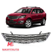 Fits 2013-2017 Chevrolet Traverse Front Bumper Lower Grille With Chrome Molding