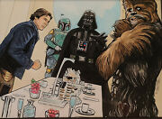 Star Wars Original Art For Topps Trading Cards By Randy Martinez-vaders Surprise