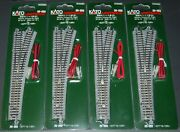 Lot Of 4 N Scale-kato Unitrack 20-203 Electric Turnout 6 Right-new In Package