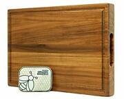 Prime Teak Wood Cutting Board Cured With Pure Beeswax And Organic Coconut Oil