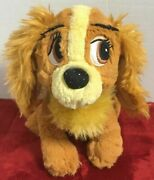 Disney Lady Plush 7andrdquo Stuffed Dog Animal Sparkly Tote A Tail Lady And The Tramp
