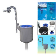 Pool Wall Mount Surface Skimmer Automatic Cleaning Basket Floating Leave Debris