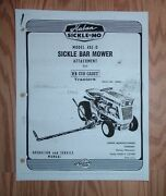 Cub Cadet Haban 402d Sickle Mower Owners Manual With Parts List
