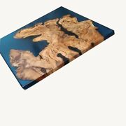 Epoxy Resin Table Dining Top Blue Wooden Furniture Acacia Decorate Made To Order