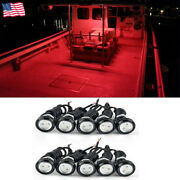 10x Red 9w Led Eagle Eye Light Waterproof Drl For Boat / Truck / Car/ Suv / Rv