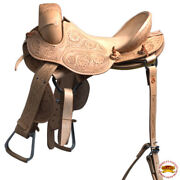 C-z-15 15 Hilason Classic Series Hand-made Rodeo Bronc American Leather Saddle