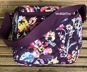 Vera Bradley Iconic Stay Cooler Lunch Tote Indiana Rose Beach Rare Nwt Burgundy
